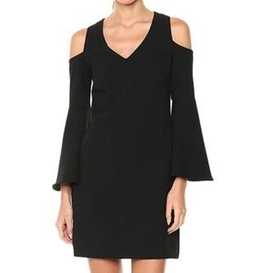Trina Turk Radner cold shoulder dress. Black. NWT